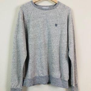 Everlane Gray Oversized Crewneck Sweatshirt